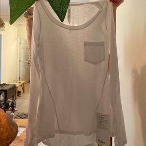NWT Lululemon 4 Sheer Long Sleeve T Shirt Cozy!